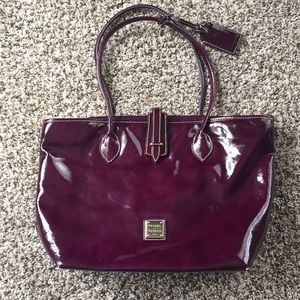 Dooney and bourke patent leather purple purse